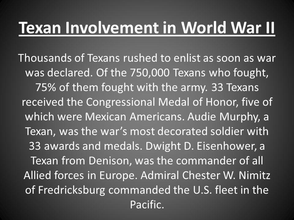 Texan Involvement in World War II