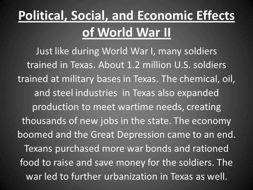 Economic effects of world war i