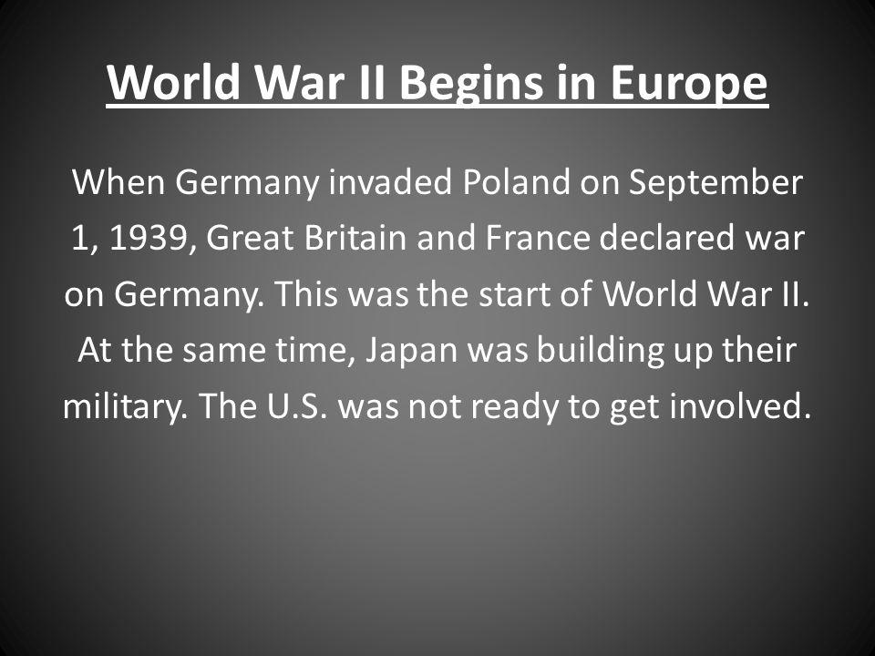 World War II Begins in Europe