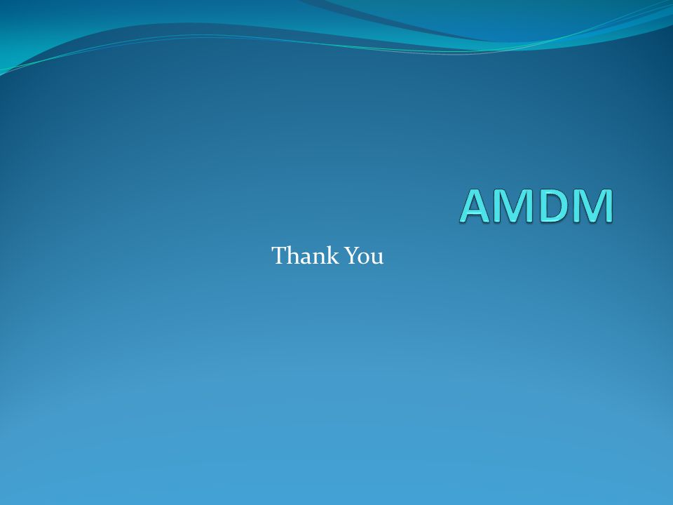 AMDM Thank You