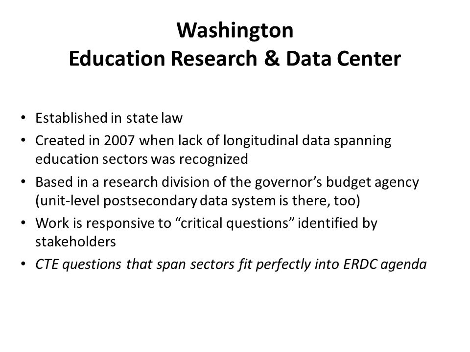 Washington Education Research & Data Center