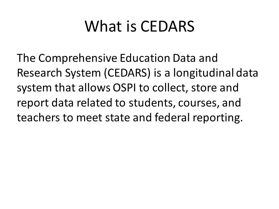 What is CEDARS