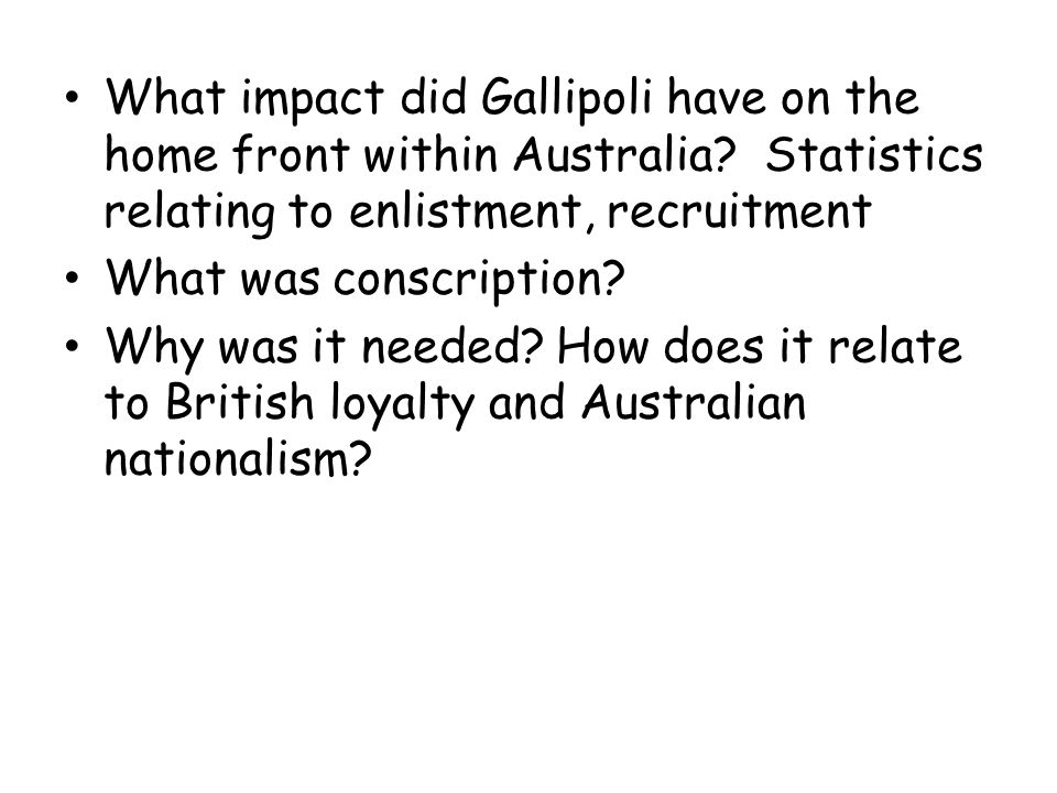 What impact did Gallipoli have on the home front within Australia
