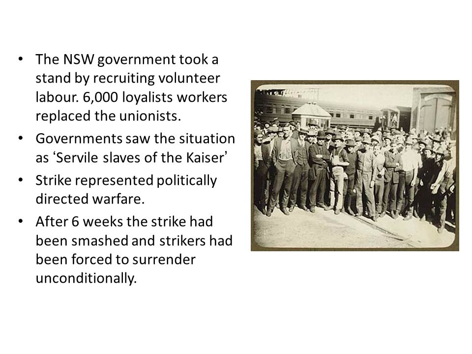 The NSW government took a stand by recruiting volunteer labour