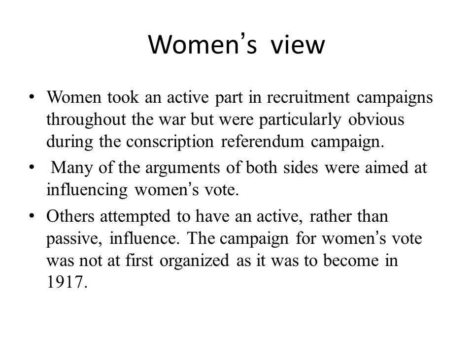 Women's view