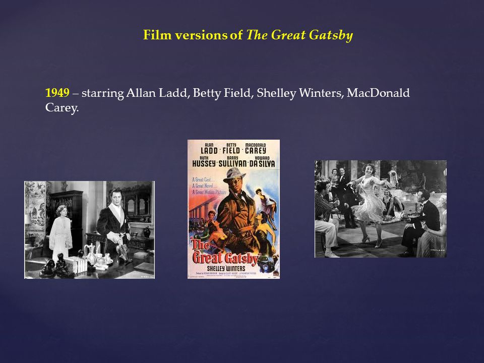 Film versions of The Great Gatsby