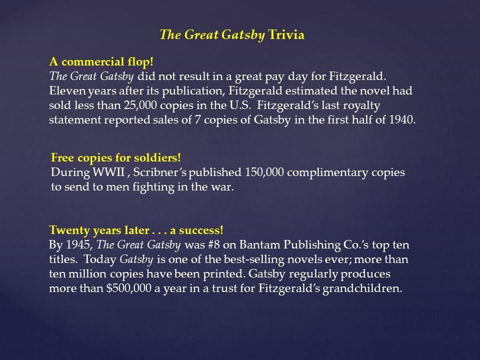 The Great Gatsby Trivia