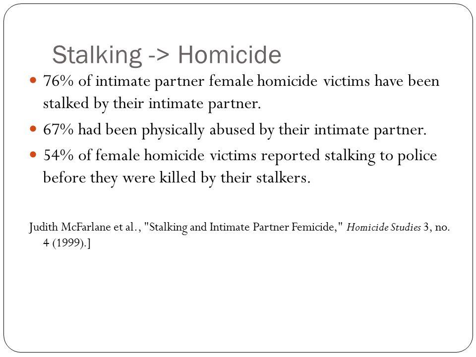 Stalking -> Homicide