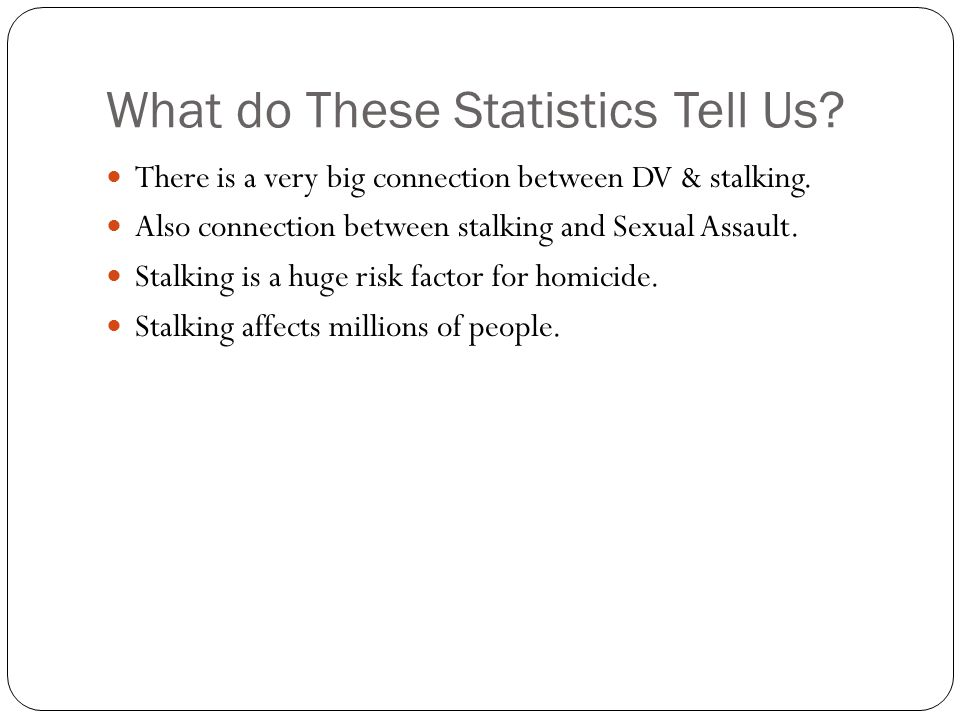 What do These Statistics Tell Us