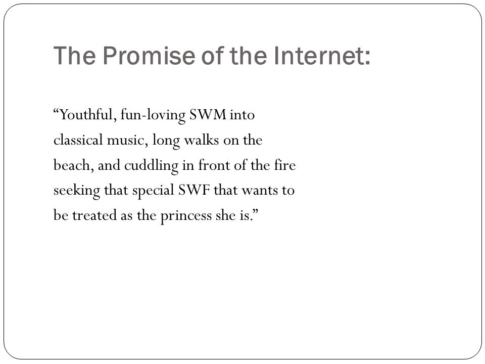 The Promise of the Internet: