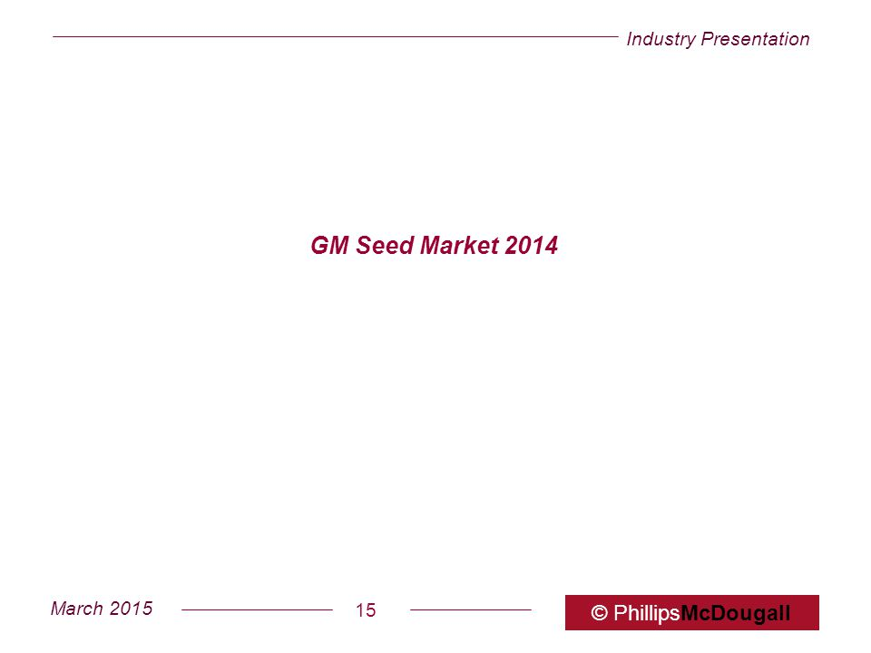 GM Seed Market 2014