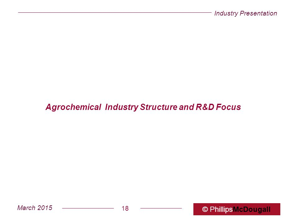 Agrochemical Industry Structure and R&D Focus