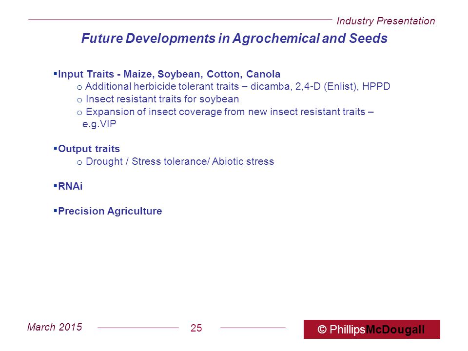 Future Developments in Agrochemical and Seeds