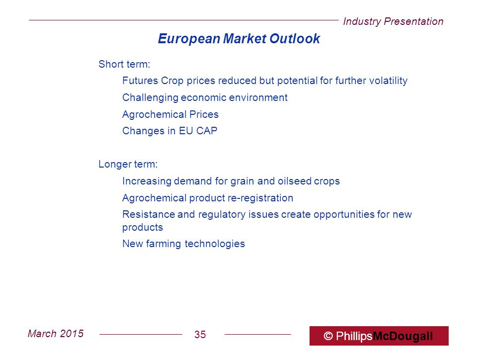 European Market Outlook