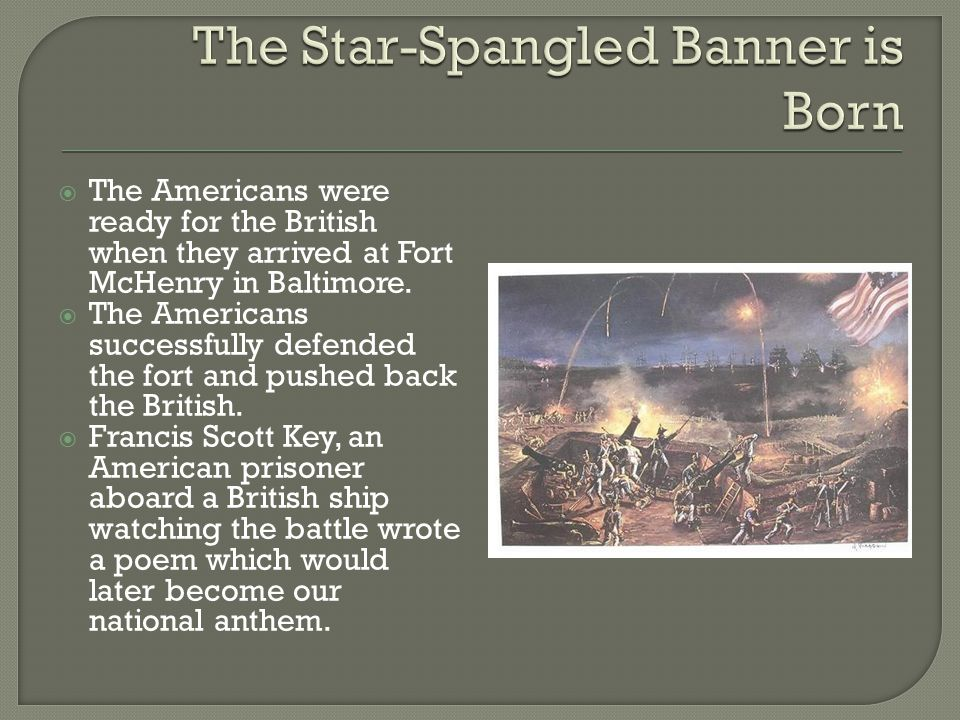 The Star-Spangled Banner is Born