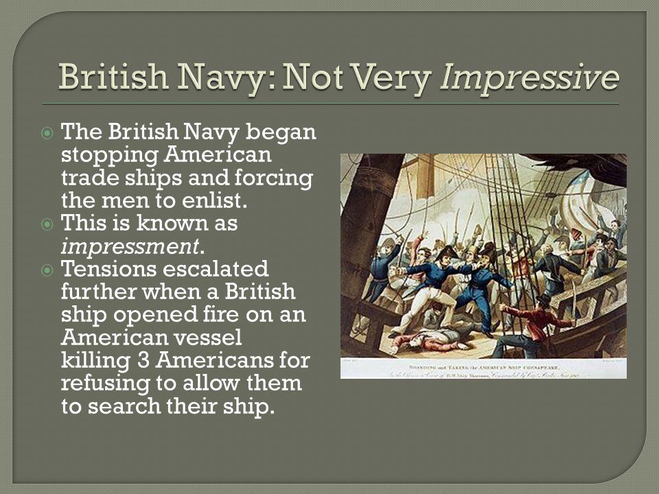 British Navy: Not Very Impressive