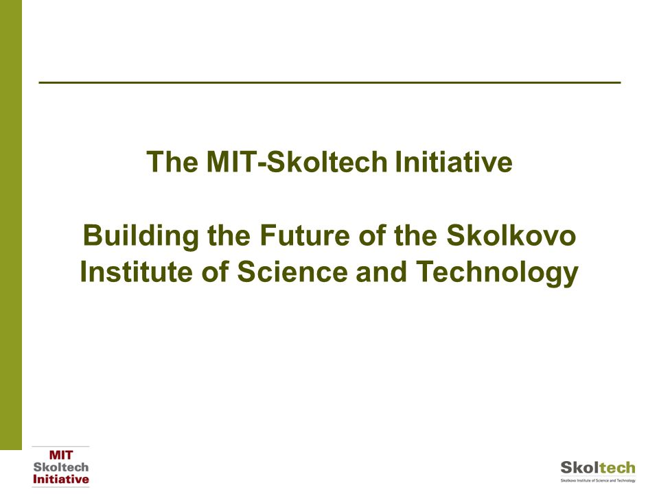 overview mit is enthusiastic about skoltech's vision, mission and, Presentation templates
