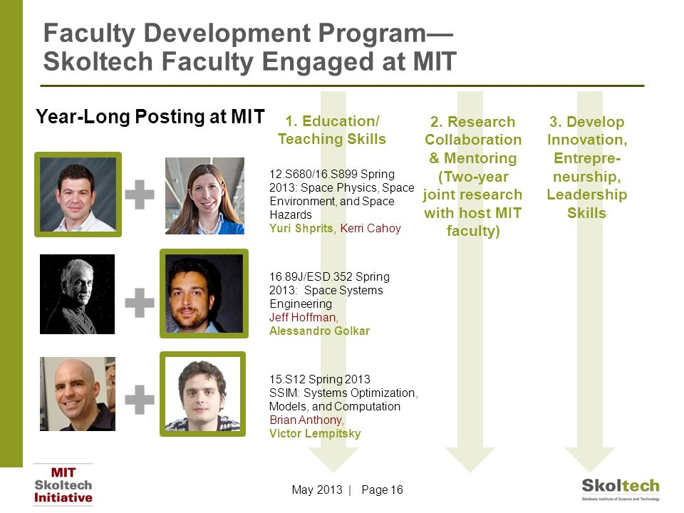 Faculty Development Program— Skoltech Faculty Engaged at MIT