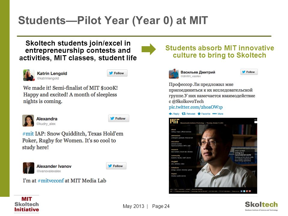 Students—Pilot Year (Year 0) at MIT