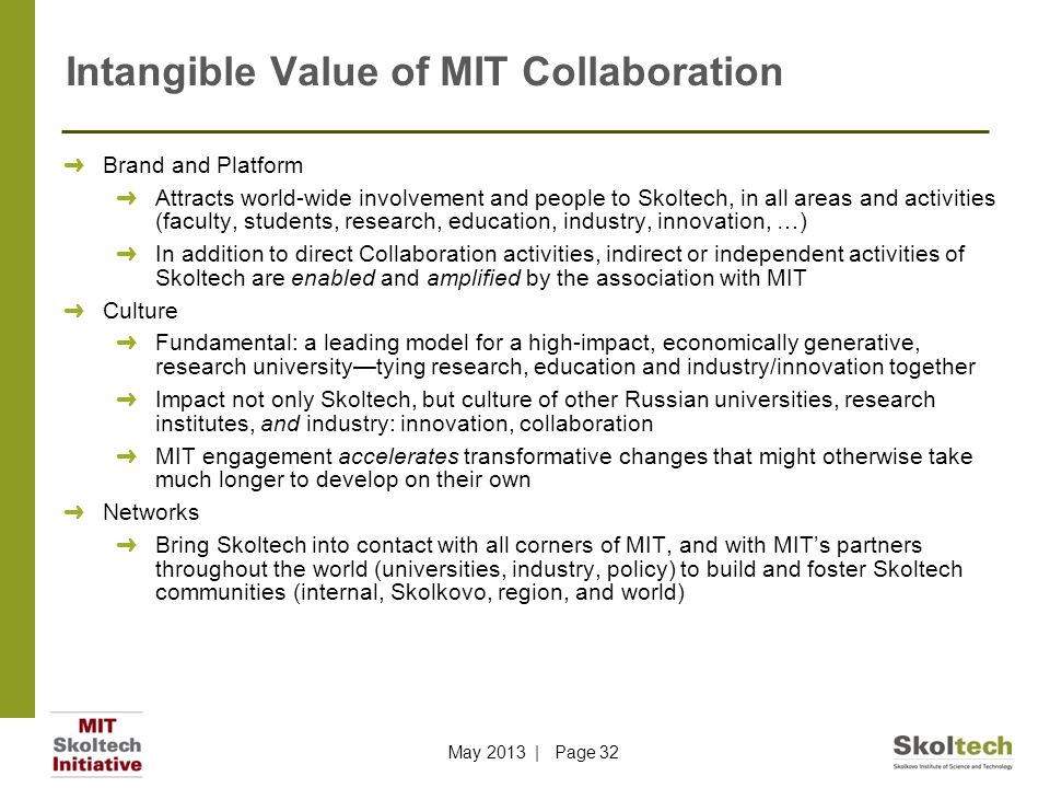 Intangible Value of MIT Collaboration