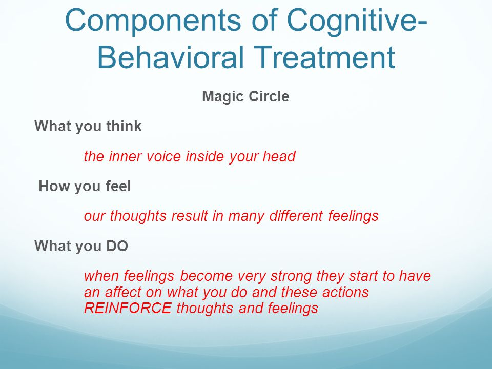 Components of Cognitive-Behavioral Treatment
