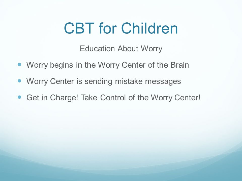 CBT for Children Education About Worry
