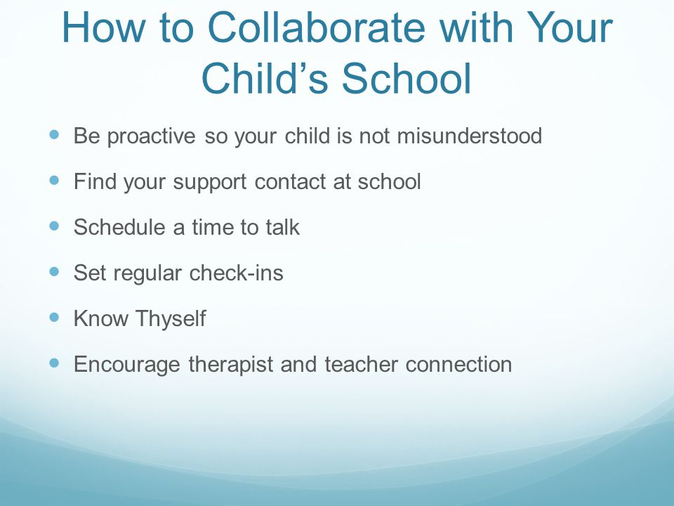How to Collaborate with Your Child's School
