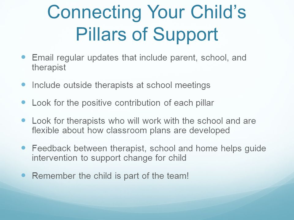 Connecting Your Child's Pillars of Support