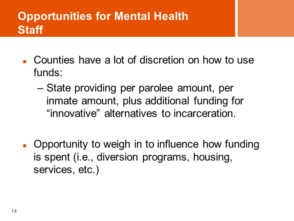 Opportunities for Mental Health Staff