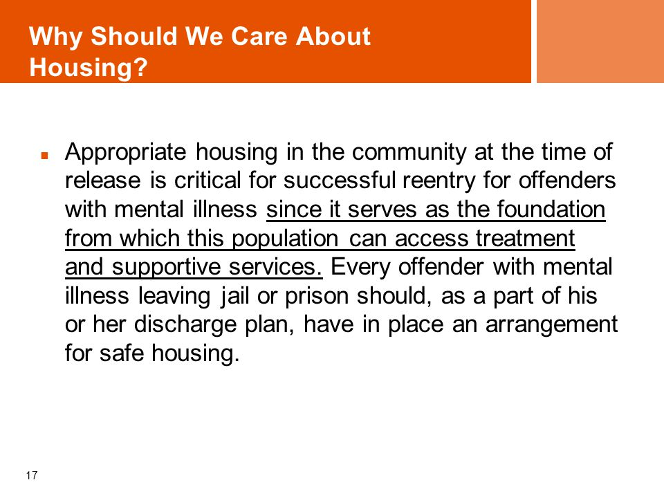 Why Should We Care About Housing