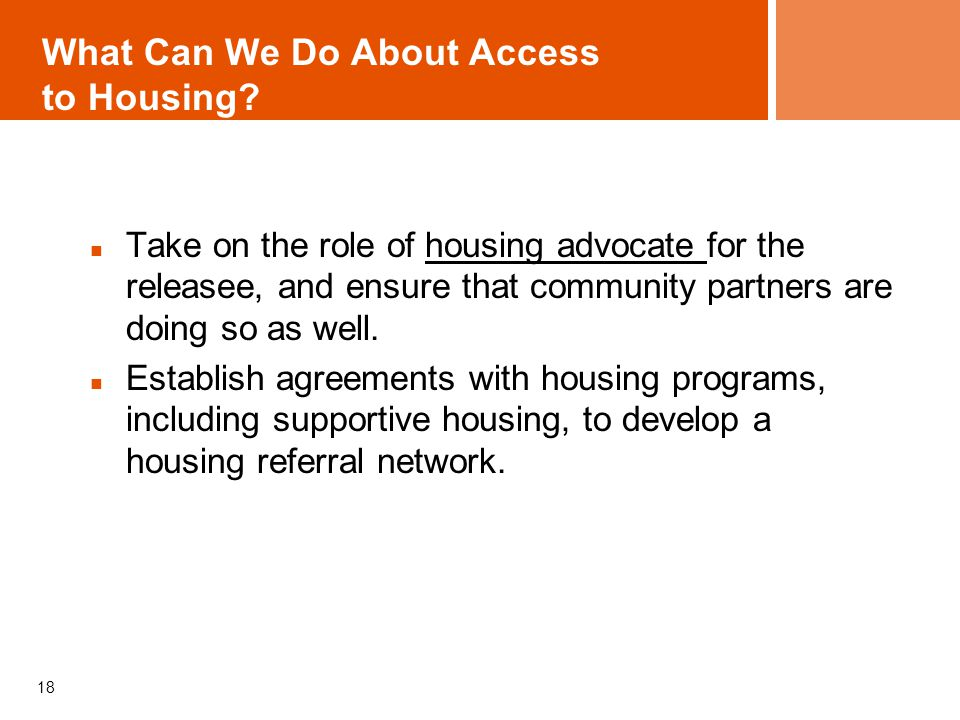 What Can We Do About Access to Housing