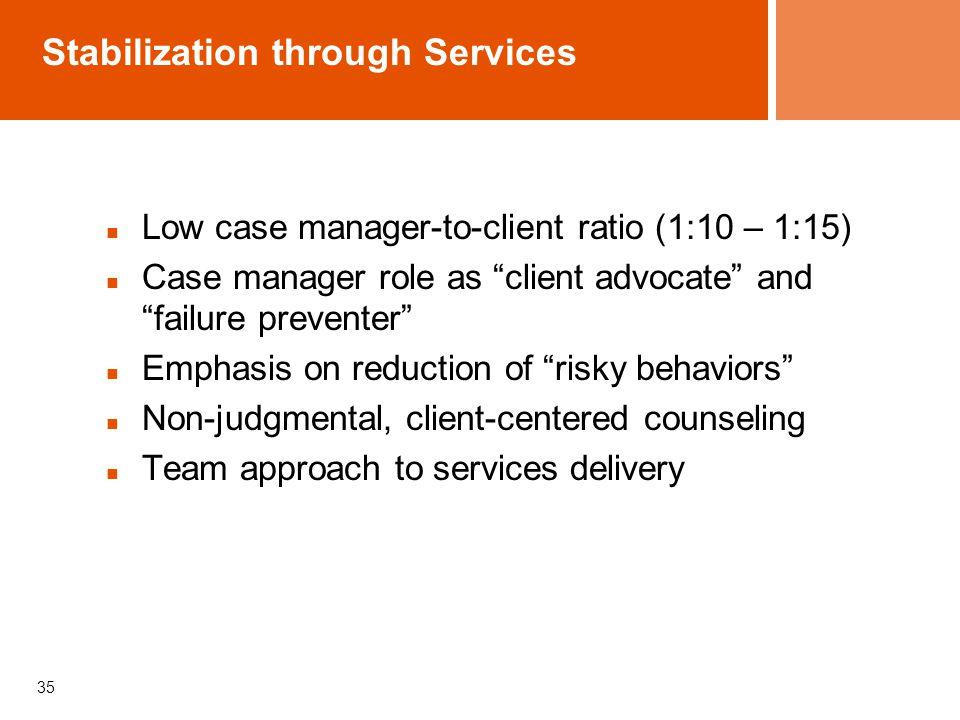 Stabilization through Services