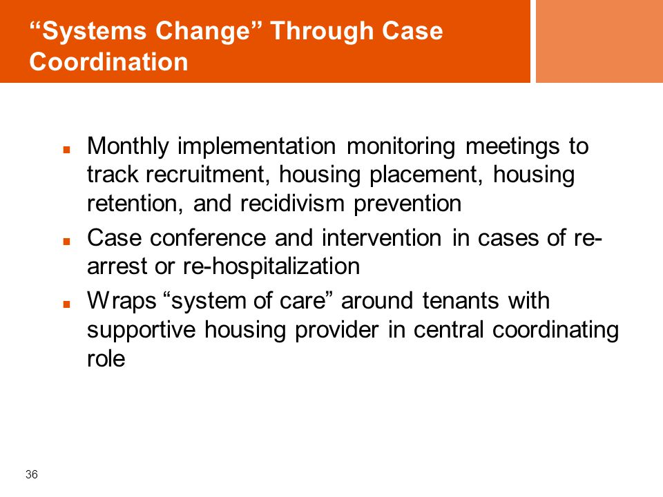 Systems Change Through Case Coordination