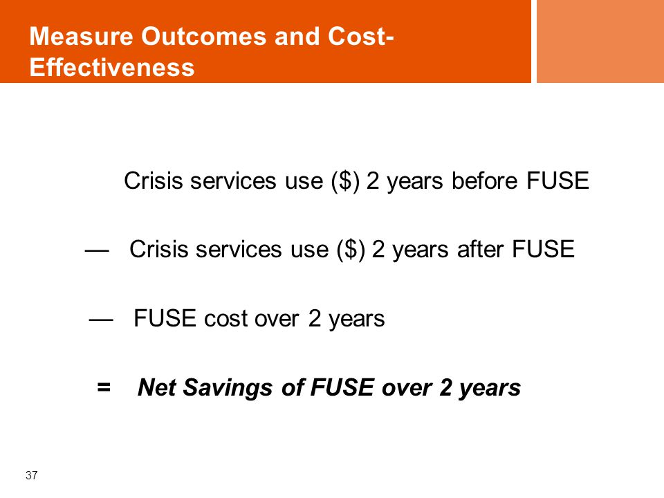 Measure Outcomes and Cost-Effectiveness