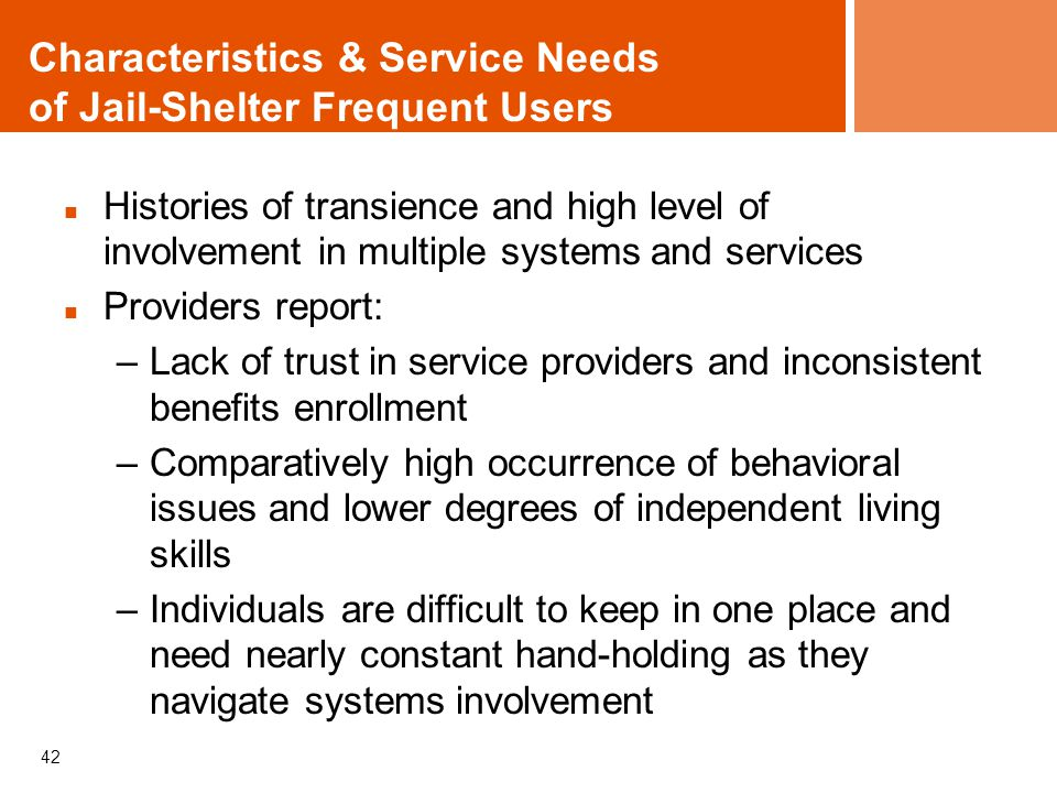Characteristics & Service Needs of Jail-Shelter Frequent Users