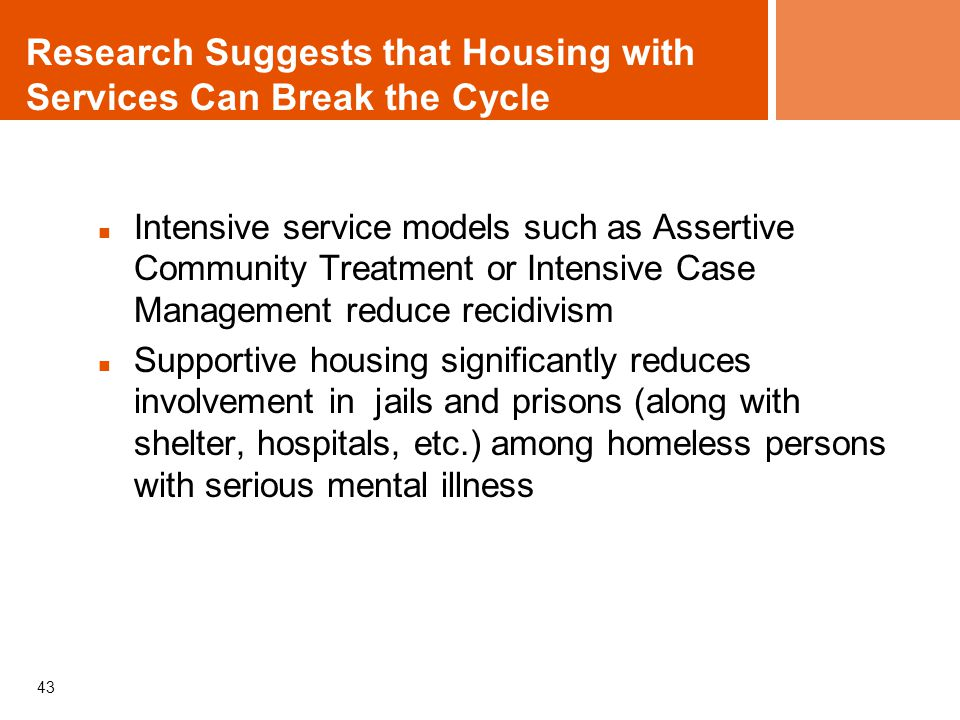 Research Suggests that Housing with Services Can Break the Cycle