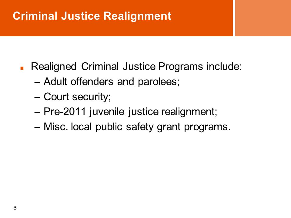 Criminal Justice Realignment