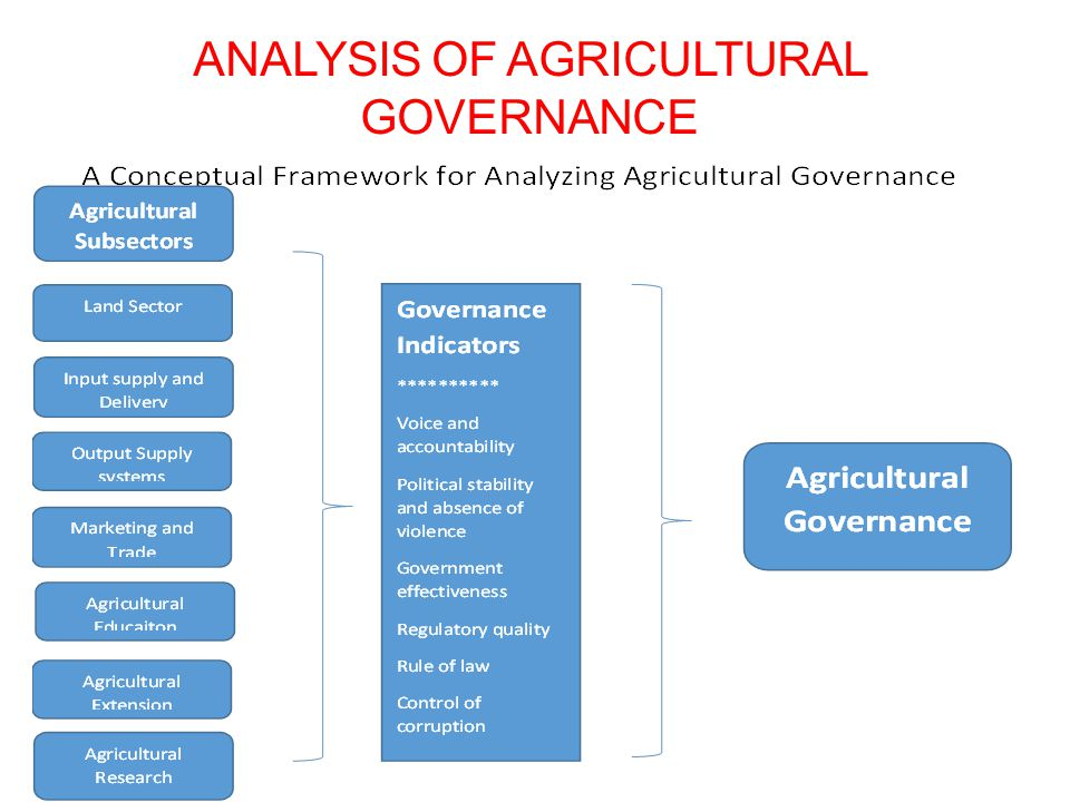 Analysis of Agricultural Governance