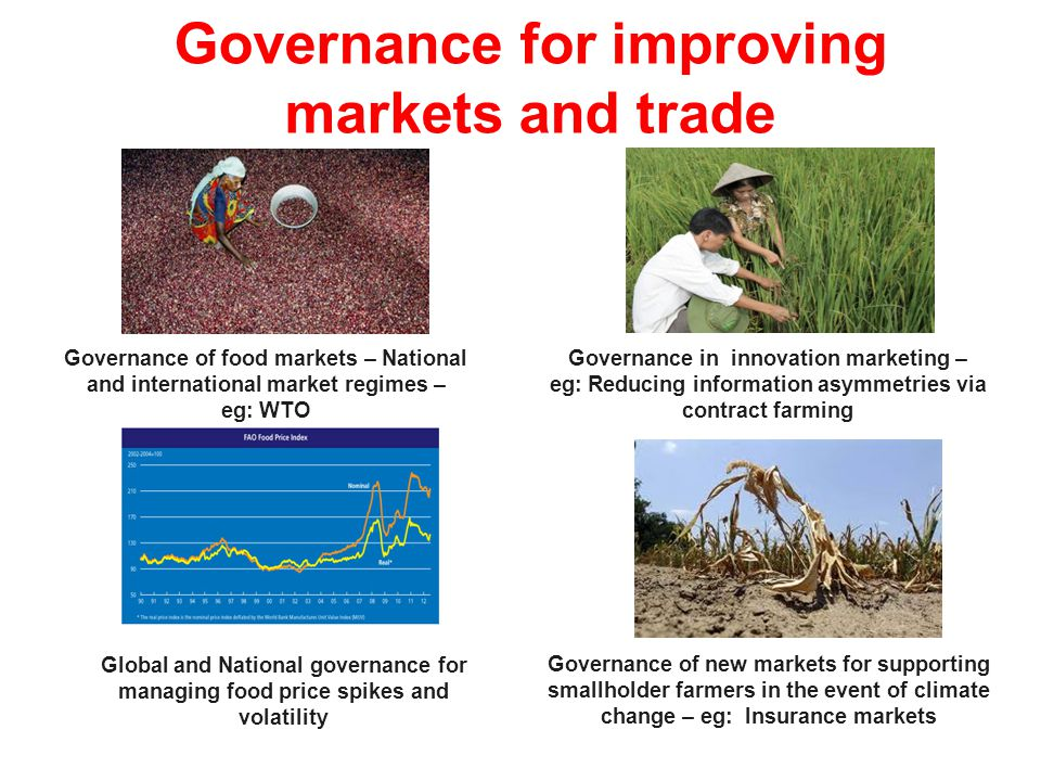 Governance for improving markets and trade
