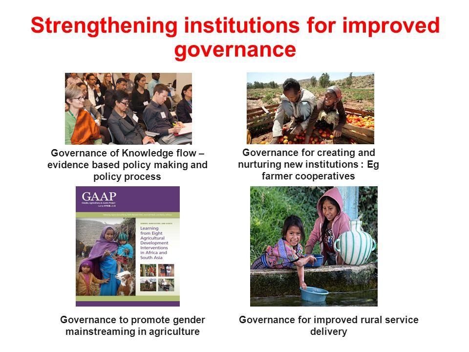 Strengthening institutions for improved governance