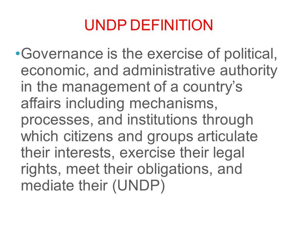 UNDP definition