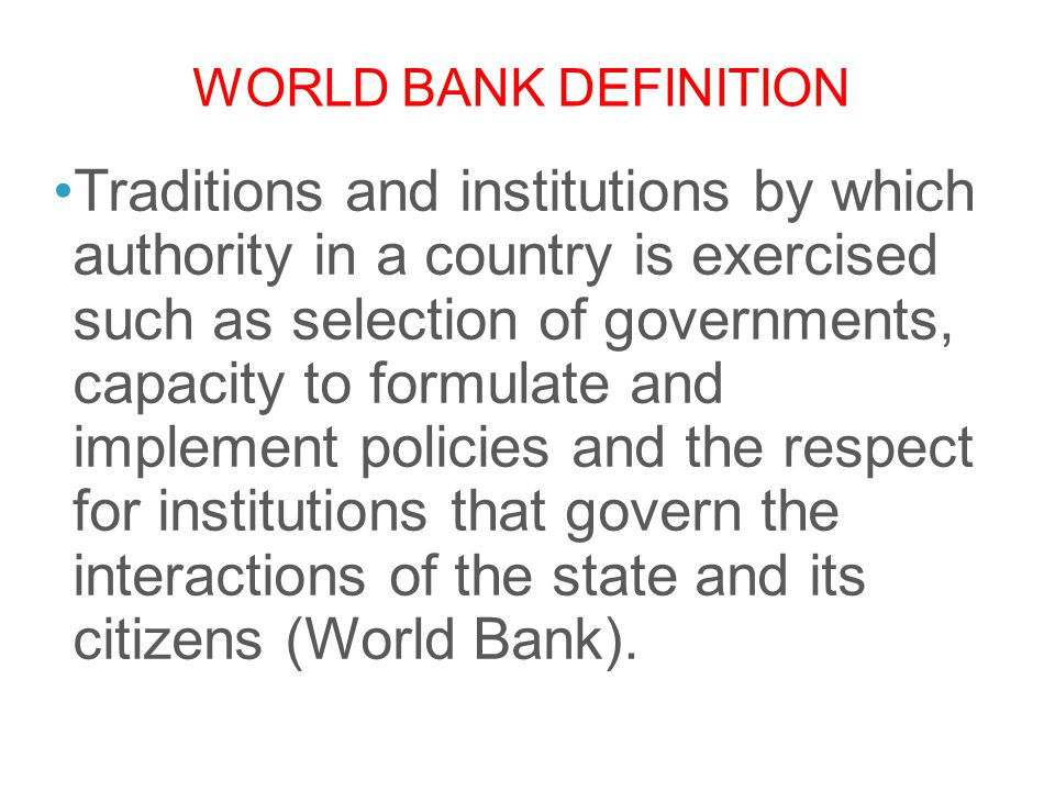 World bank definition