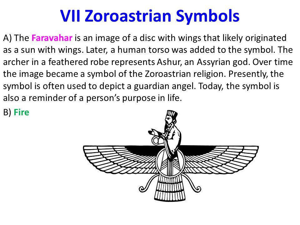 VII Zoroastrian Symbols