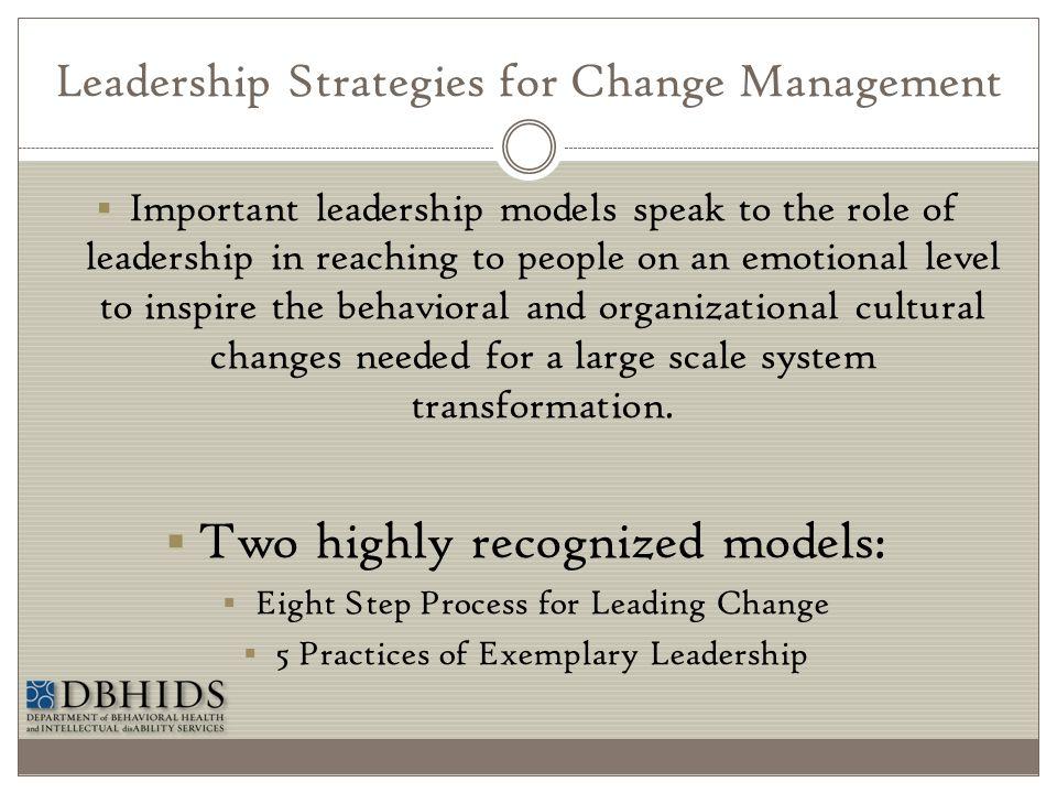 Leadership Strategies for Change Management