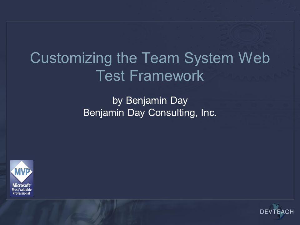 Customizing the Team System Web Test Framework