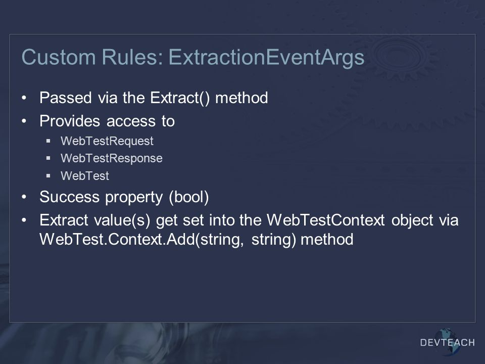Custom Rules: ExtractionEventArgs