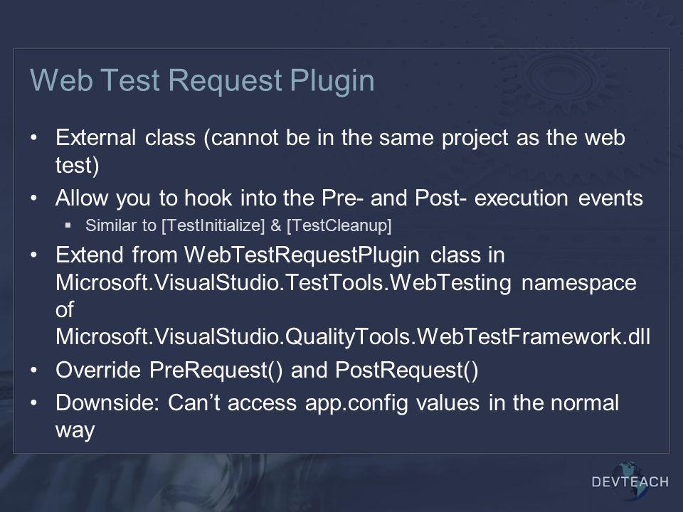 Web Test Request Plugin