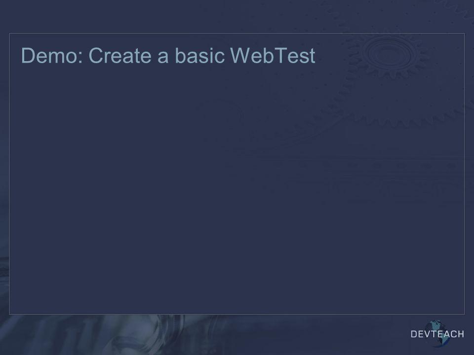 Demo: Create a basic WebTest
