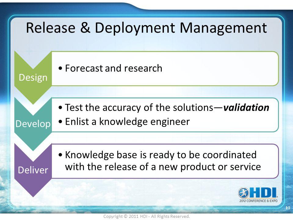 Release & Deployment Management