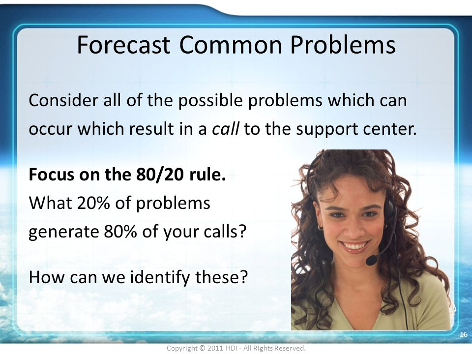 Forecast Common Problems